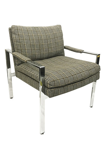 Milo Baughman Flat Bar Lounge Chair for Thayer Coggin