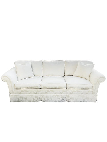 Ivory Floral Chinoiserie Sofa by Kindel Furniture
