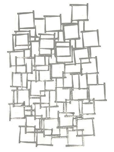Abstract Mid Century Brutalist Metal Wall Sculpture
