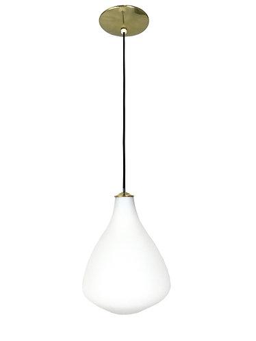 Raak White Opaline Glass Pendant Light for Lightolier