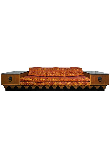"Mid Century Adrian Pearsall ""Strictly Spanish"" Sofa and End Tables"