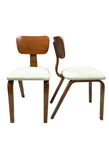 Joe Atkinson Maple Bent Plywood Chairs for Thonet - A Pair