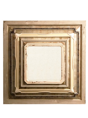 GuildMaster Aged Tin & Wood Collage Mirror