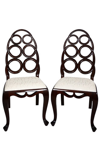 Pair of Alden Parkes Carlyle Side Chair