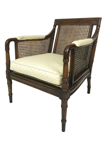 Hickory Chair Faux Bamboo Cane Armchair