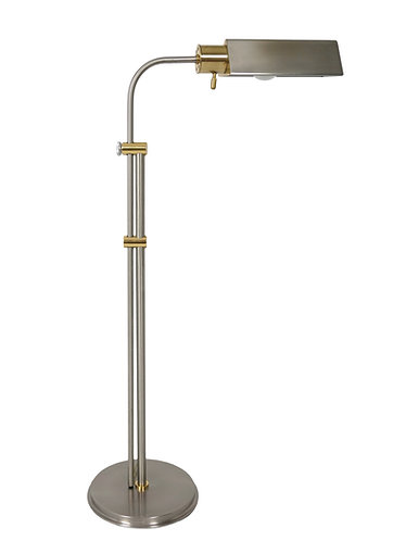 Frederick Cooper Two Tone Nickel & Brass Pharmacy Floor Lamp