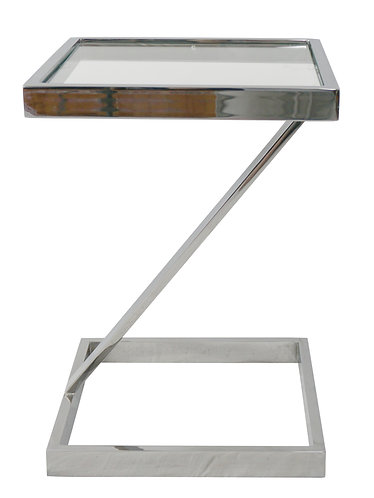 Mid Century Pace Collection Chrome Z Side Table