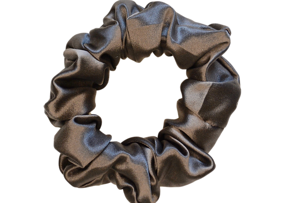 Mulberry Silk Scrunchies - Charcoal Grey