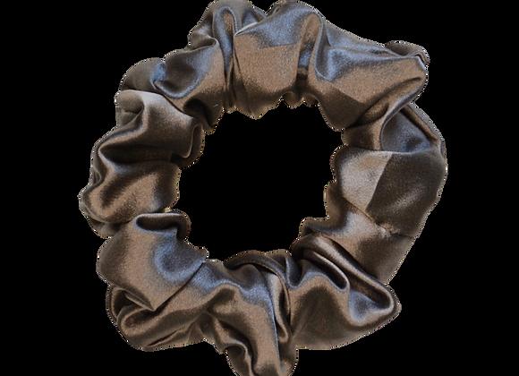 Mulberry Silk Scrunchie - Charcoal Grey