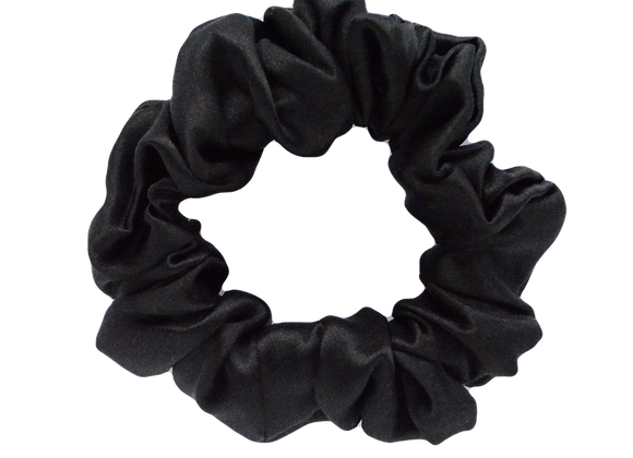 Deluxe Silk Scrunchie - Black