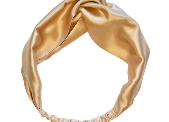 Caramel Twist Silk Headband