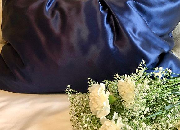 Navy Blue Mulberry Silk Pillowcase