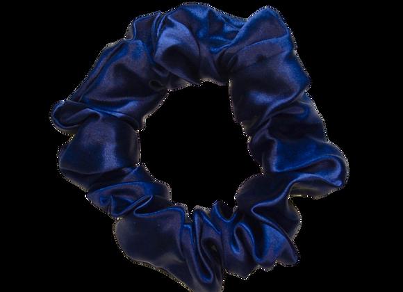 Mulberry Silk Scrunchie - Navy Blue