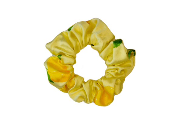 Deluxe Silk Scrunchie - Lemon Drop