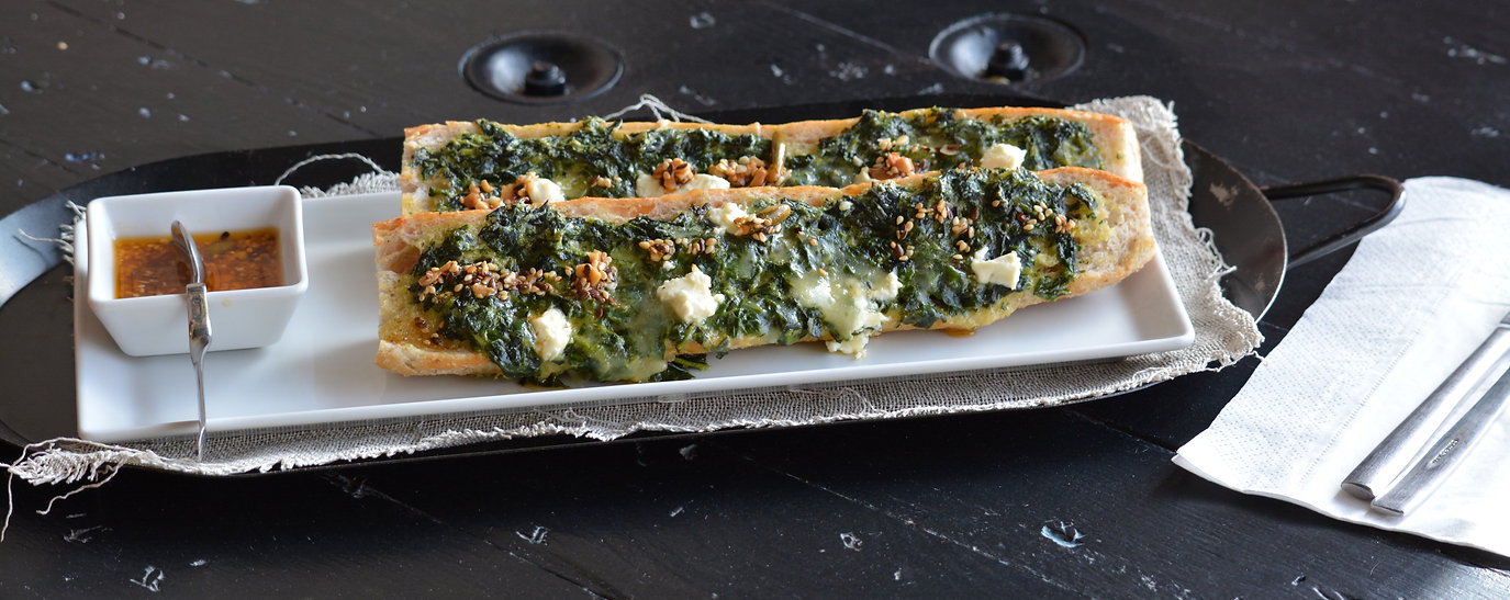 Spinach and Goat Cheese Mollete