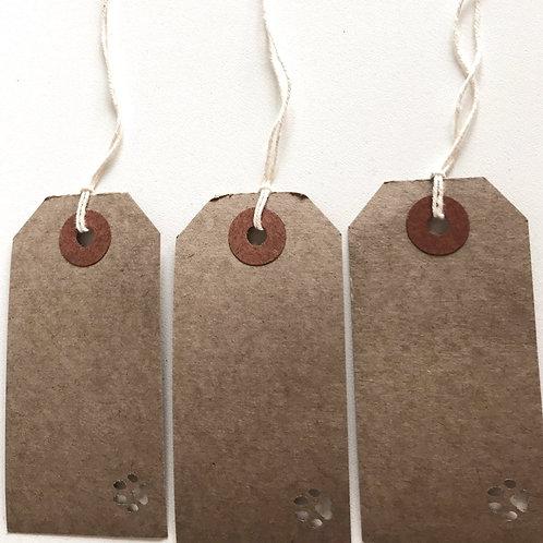 Ten Paw Print Gift Tags