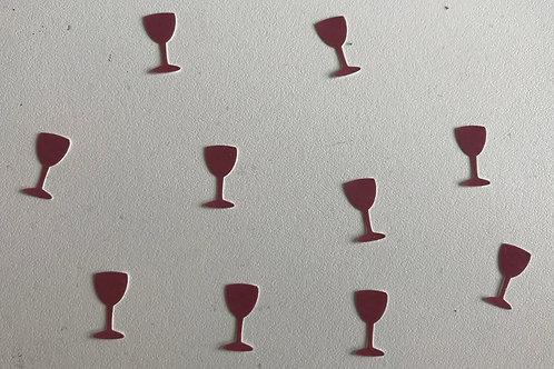 Wine glass decals