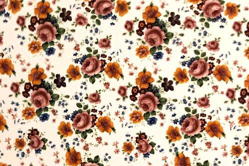 Pink And Orange Flower Sheet 21cm x 30cm