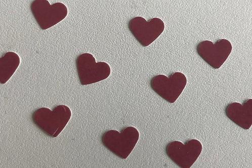Ten Individual Heart Decals