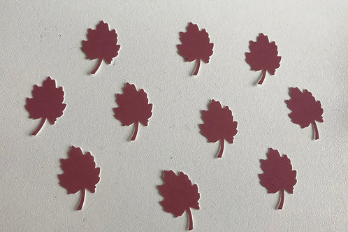 Ten Individual Leaf Decals