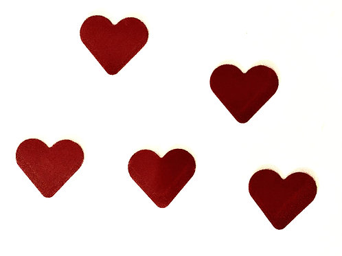 Ten Individual Heart Decals Large