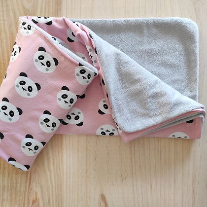 Manta calentita panda rosa
