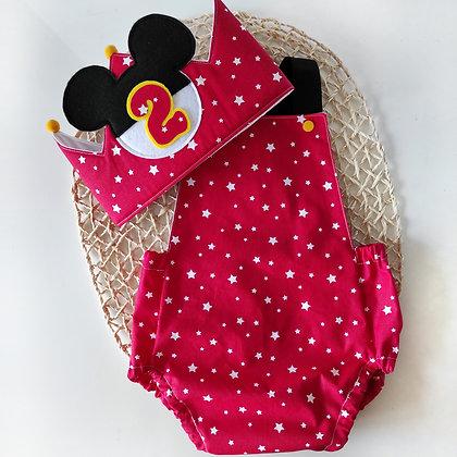 Conjunto ranita y corona Mickey