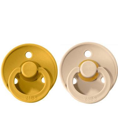 2 Chupetes BIBS Colours Vanilla/Mustard