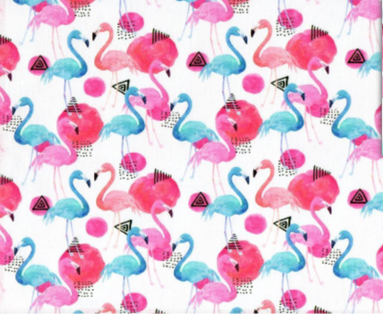 Flamencos rosa y azul