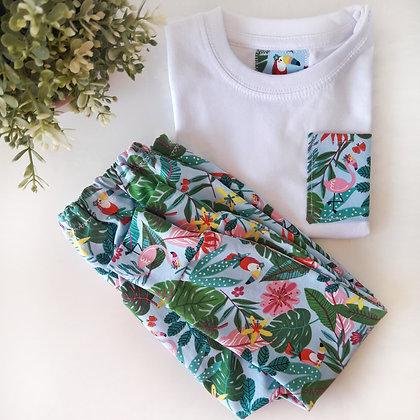 Conjunto con pantalón largo y camiseta