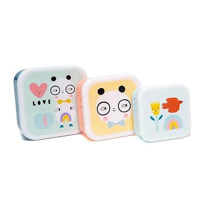 3 Cajitas Almuerzo Panda Love