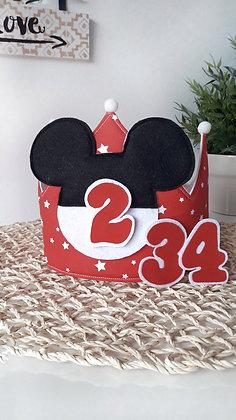 Corona orejitas Mickey rojo