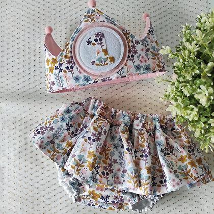 Conjunto culotte faldita con corona