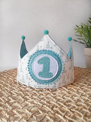Corona cumpleaños con UN SOLO número fijo