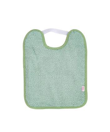 Baberos Toalla Plastificado con Goma verde helecho