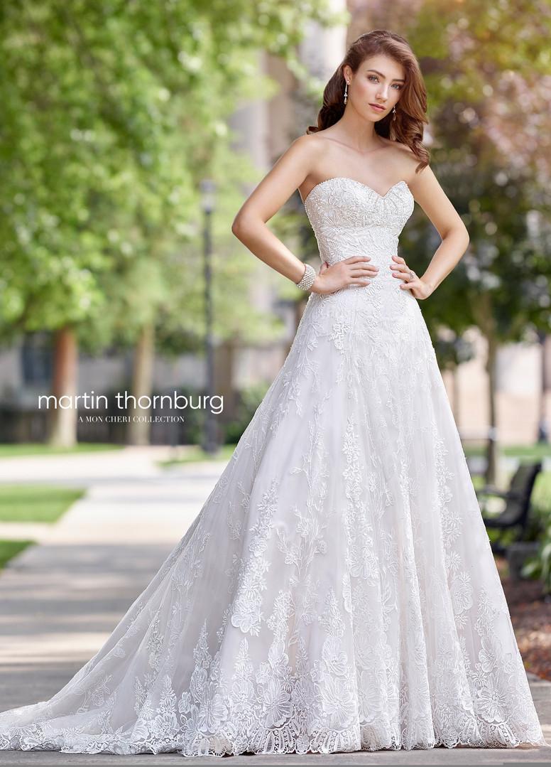 A line wedding dress-Martin Thornburg-11