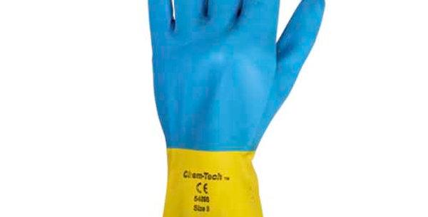 Guantes de neopreno/látex resistentes a los químicos KC38742