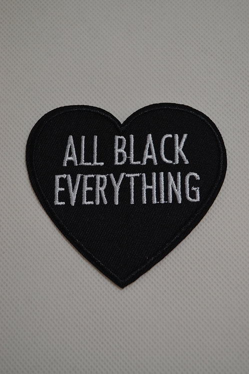 Iron on All Black Heart