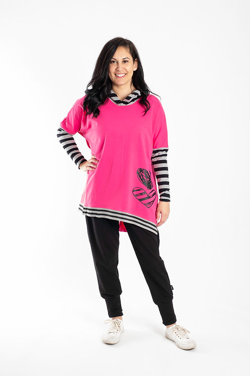 NEW SEASON -HOT PINK HOODIE -JW2114