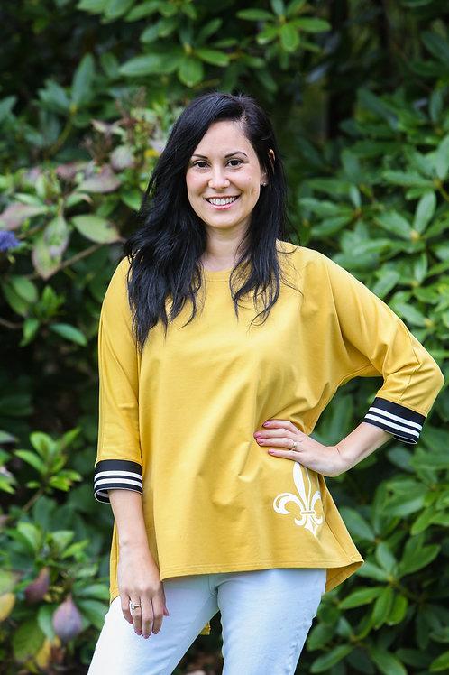 Pale Mustard Sweat-Shirt - Summer Weight SS1