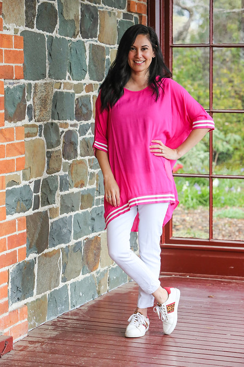 RELAX FIT TOP - PINK - JS07