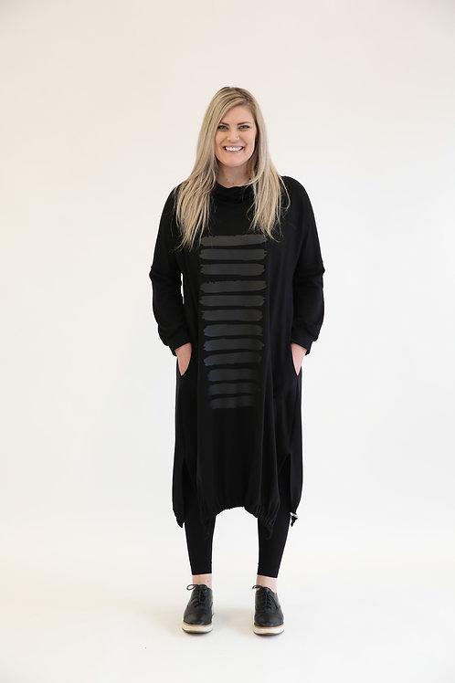 deeanne hobbs -DRESS HOODIE BLACK  DHSW2147