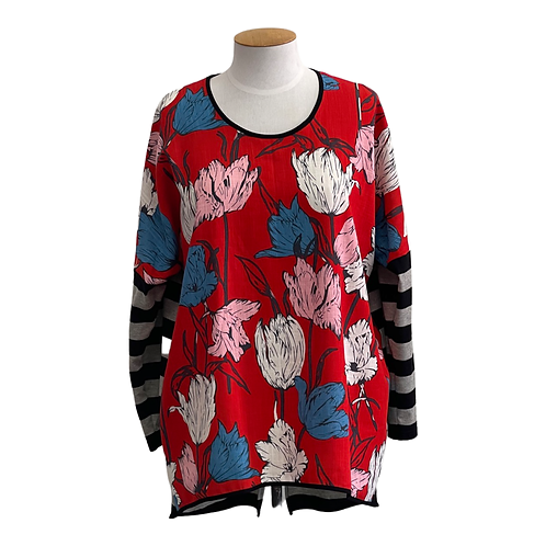 NEW - RELAX FIT - RED TULIP - TOP