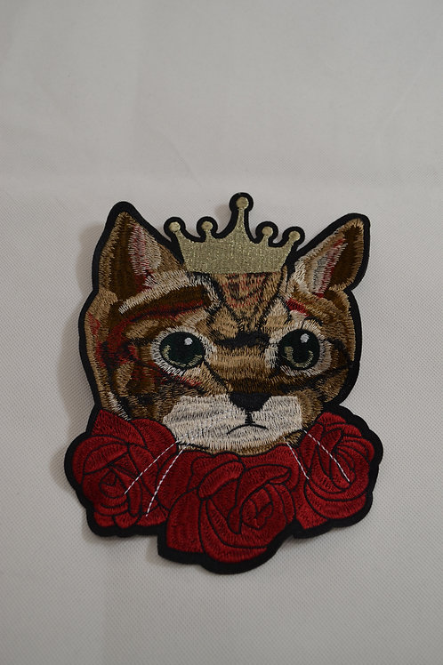 Sew on Cat in roses