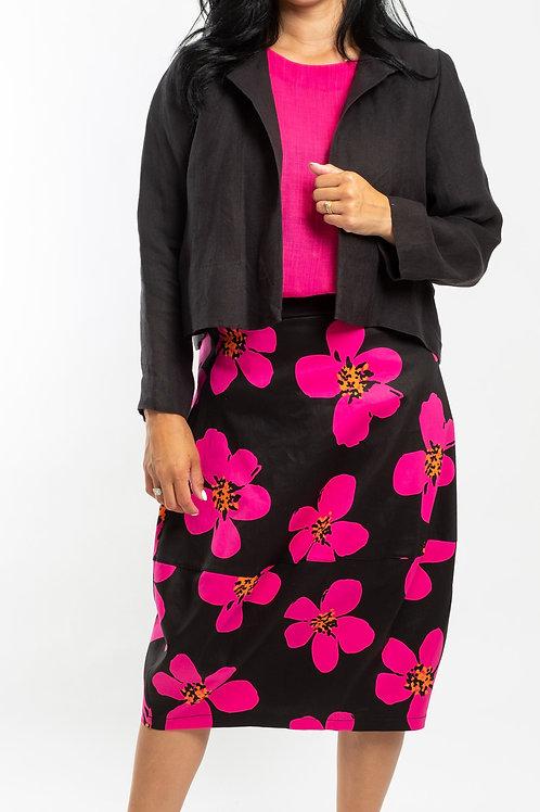 DEEANNE HOBBS - PINK FLOWER BALLOON SKIRT - DHS2119
