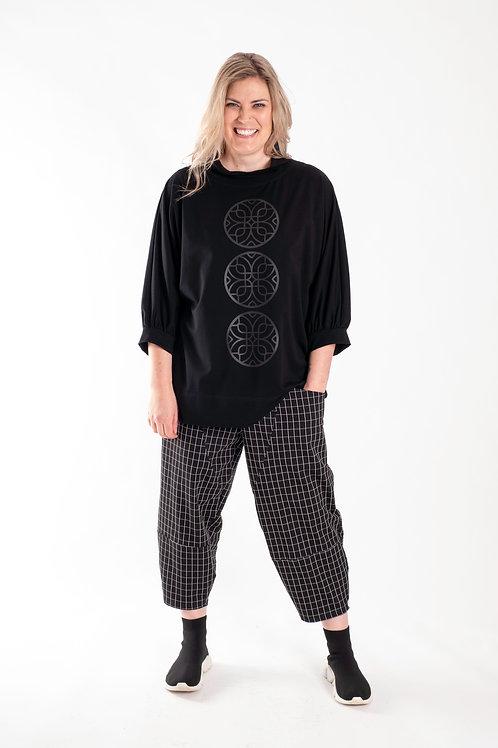 deeanne hobbs - BLACK CHQ PANTS DHW2130