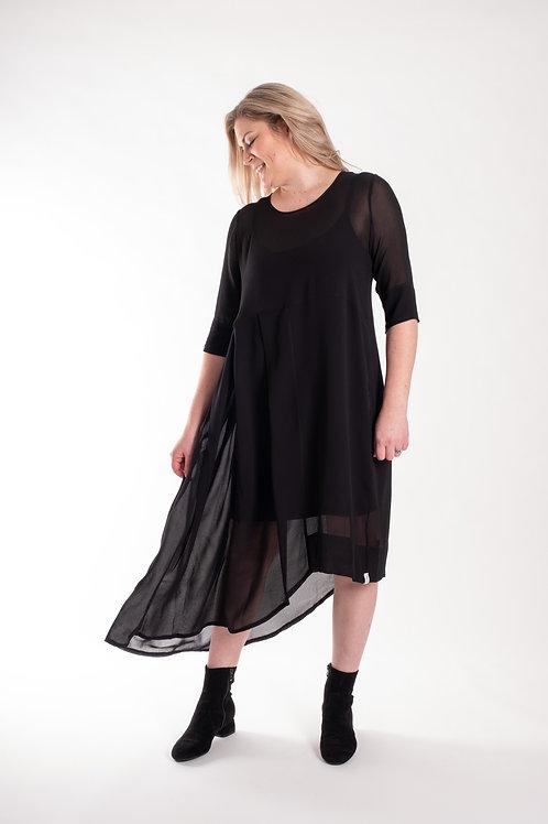 deeanne hobbs - BLACK WATERFALL DRESS- DHW2140