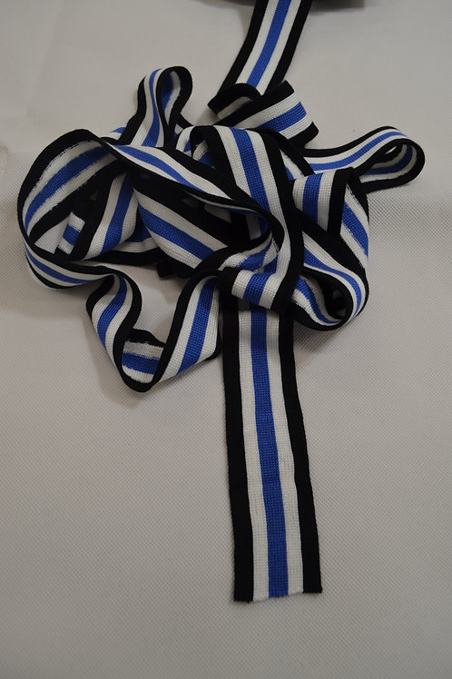 Knitted Trim Blue