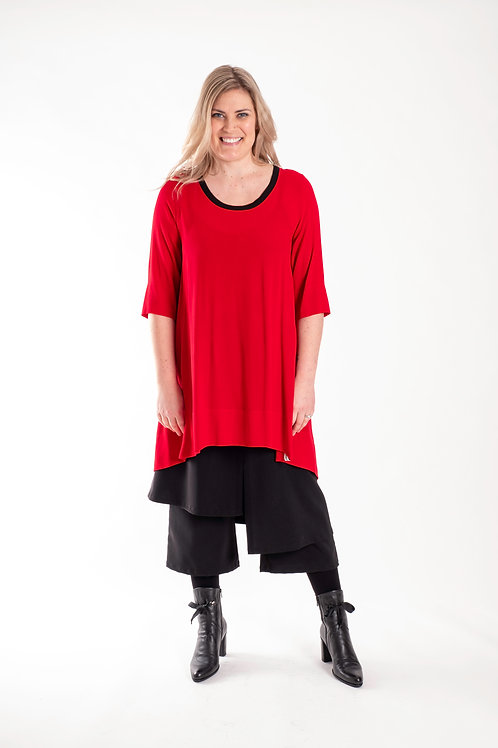 deeanne hobbs - PLEAT AROUND THE BACK TOP RED - DHW2120