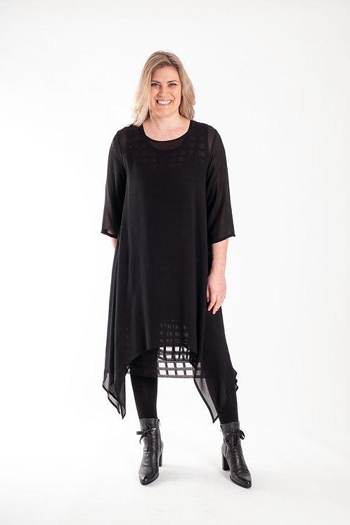 deeanne hobbs - BLACK OVER DRESS - DHW2134